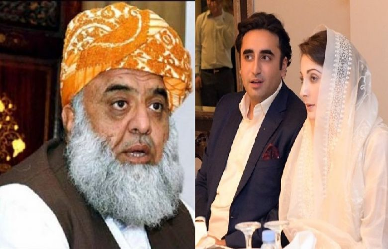 Chief of Jamiat Ulema-e-Islam Fazl Maulana Fazlur Rehman telephoned opposition leaders