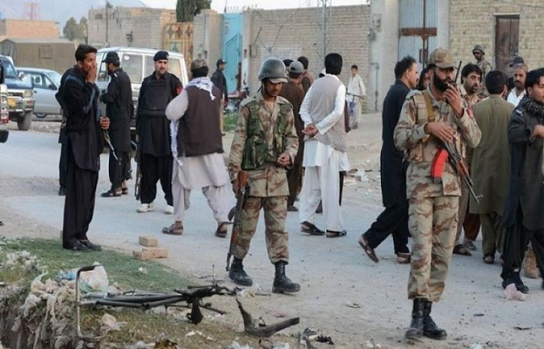 Four security personnel martyred in terrorist attack in Balochistan
