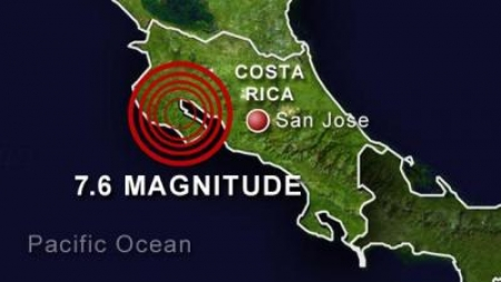 Powerful Earthquake Reported in Costa Rica