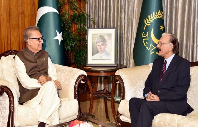 Chief Election Commissioner calls on President Alvi