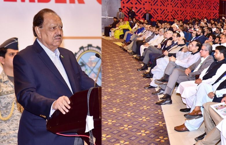 President Mamnoon says law and order improved in KP