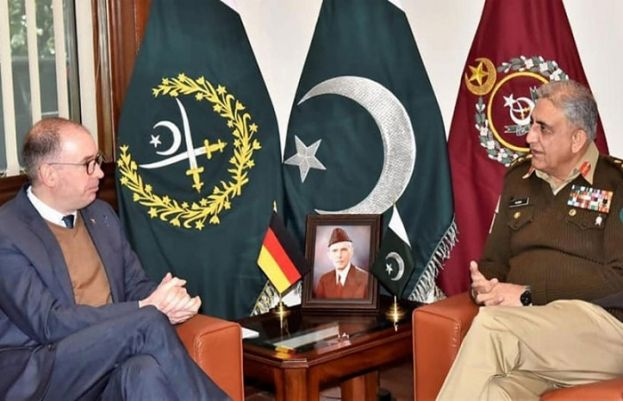 Minister of State at the German Federal Foreign Office Niels Annen called on Army Chief Gen Qamar Javed