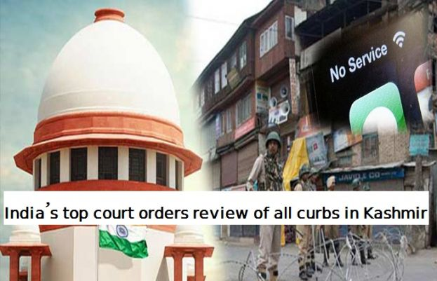 India's Supreme Court orders review of all curbs in Kashmir