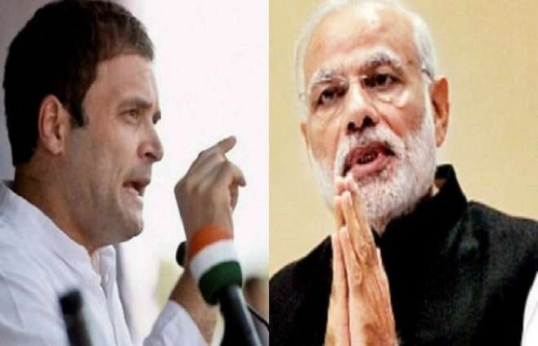 Indian Congress leader Rahul Gandhi and Prime Minister Narendra Modi