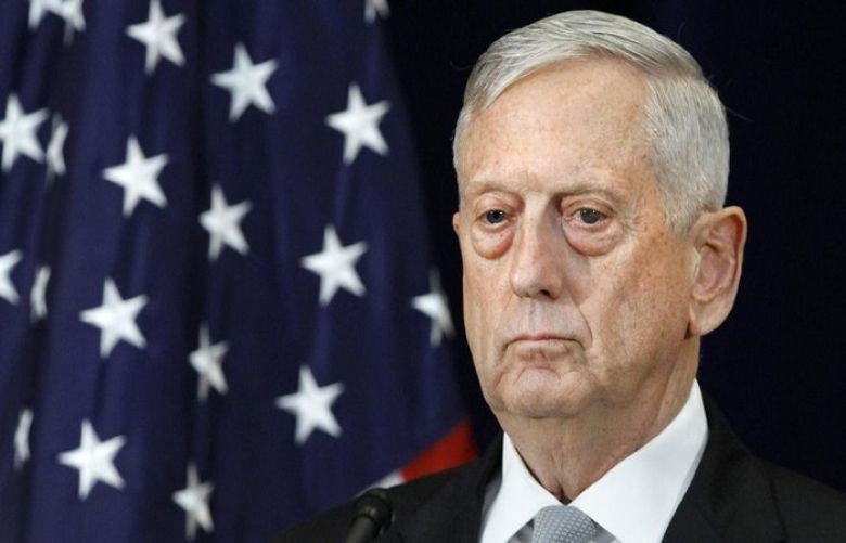 File Photo of Defense Secretary James Mattis attends a news conference, Thursday, Aug. 17, 2017, at the State Department in Washington.