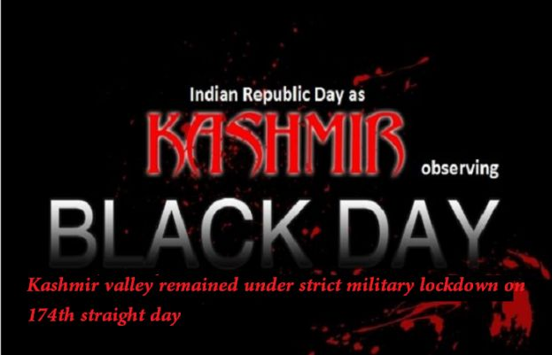 Kashmiris are observing Indian Republic Day, today, as Black Day
