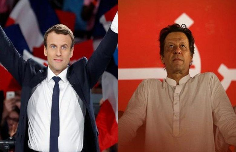 France's Macron phones PM Khan, talks bilateral relations, South Asia situation
