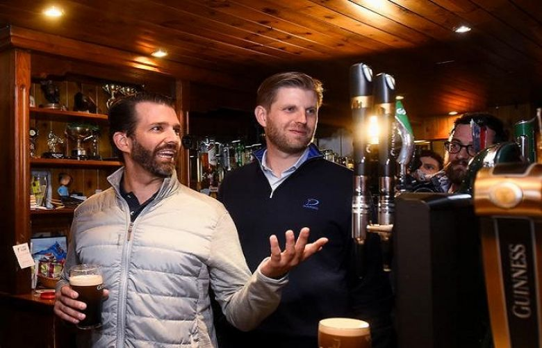 With free beers, Trump brothers thank devoted Irish village
