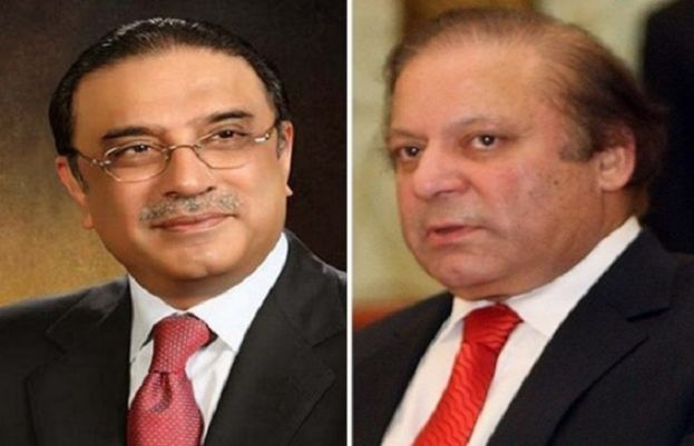 Pakistan Peoples Party co-chairperson Asif Ali Zardari and former prime minister Nawaz Sharif