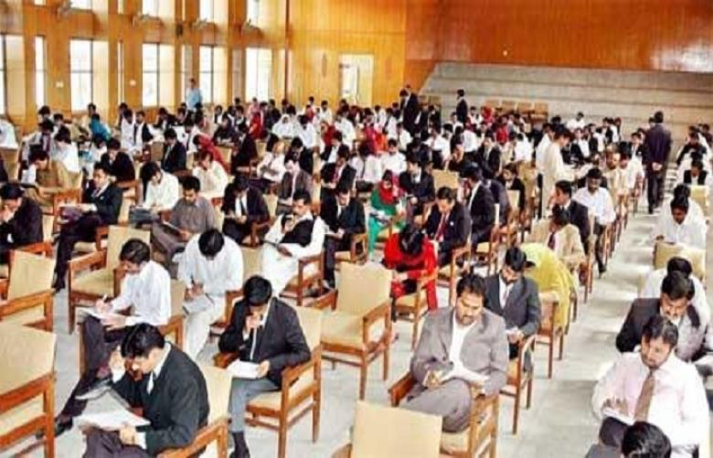 students for admission test