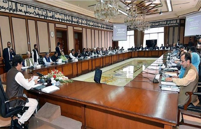 Federal cabinet meeting chaired by Prime Minister Imran Khan is in progress in Islamabad.