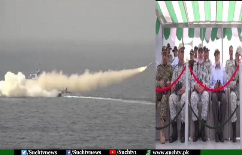 Pak Navy successfully test fires cruise missile