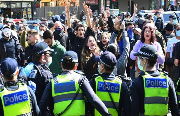 More than 70 arrested in Melbourne for protesting against lockdown restrictions