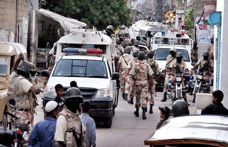 Dozens people were taken into custody in a joint operation of Sindh Rangers and police