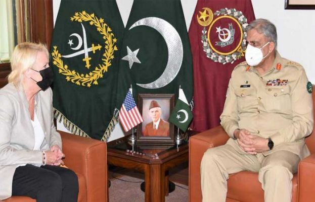 US Chargé d'affaires Aggeler had called on Chief of Army Staff General Qamar Javed Bajwa at the General Headquarters in Rawalpindi