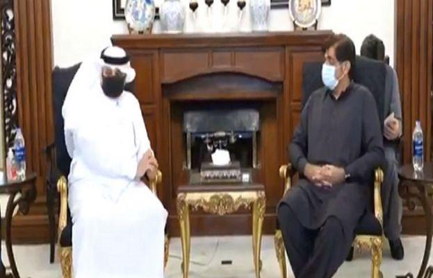 Saudi Arabia's Ambassador in Pakistan Nawaf Saeed Al-Malky called on Sindh Chief Minister Murad Ali Shah