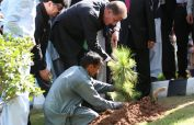 FM Qureshi inaugurates Clean and Green drive in Foreign Office