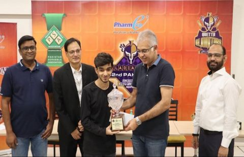 The 14-year-old is the youngest national champion in Pakistan scrabble history.
