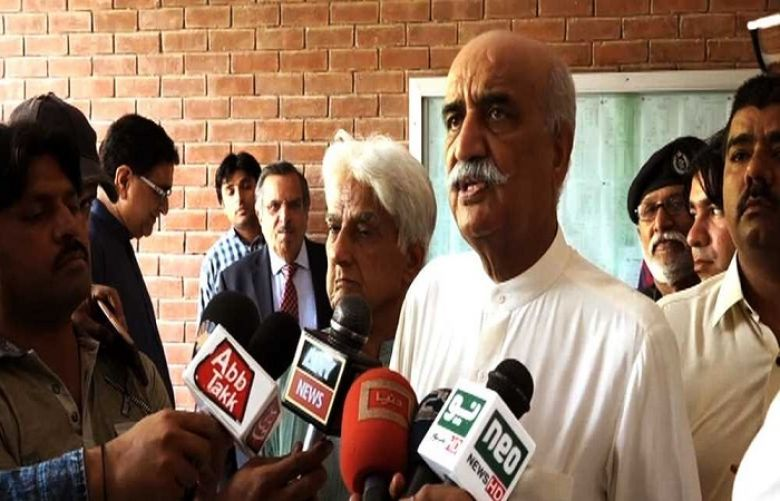 Khursheed shah Talking to the Media