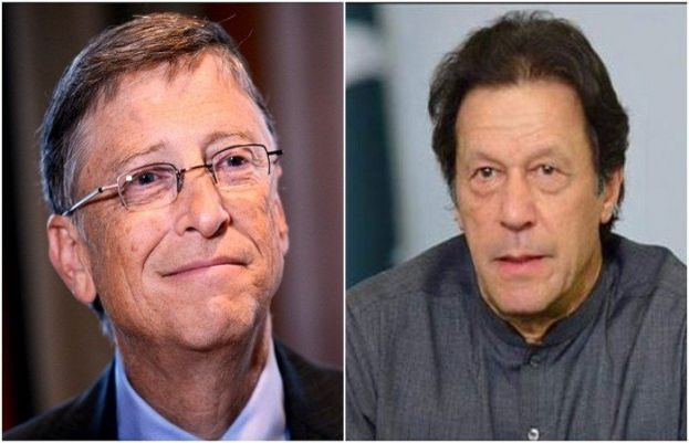 PM Imran Khan and Bill Gates