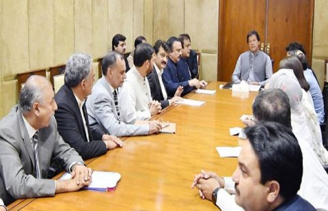 Prime Minister Imran Khan was talking to a group of PTI Senators