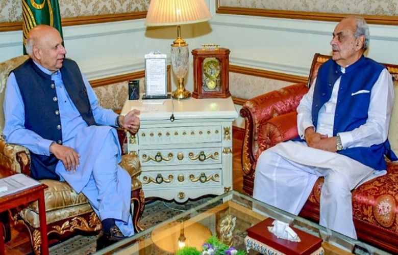 Interior Minister Ijaz Shah called on Punjab Governor Chaudhary Muhammad Sarwar in Lahore