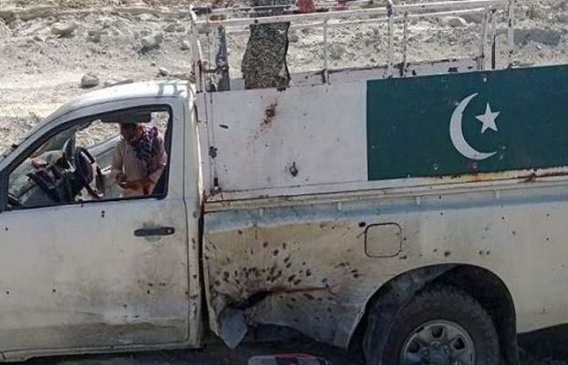 Five Frontier Corps soldiers have been martyred in an attack by terrorists in Sibi, Balochistan