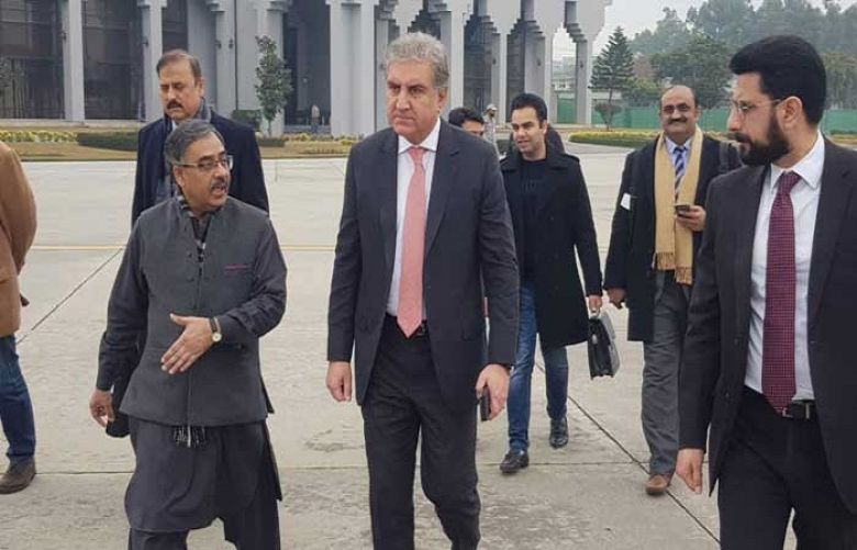Foreign Minister Shah Mehmood Qureshi arrived in Tehran