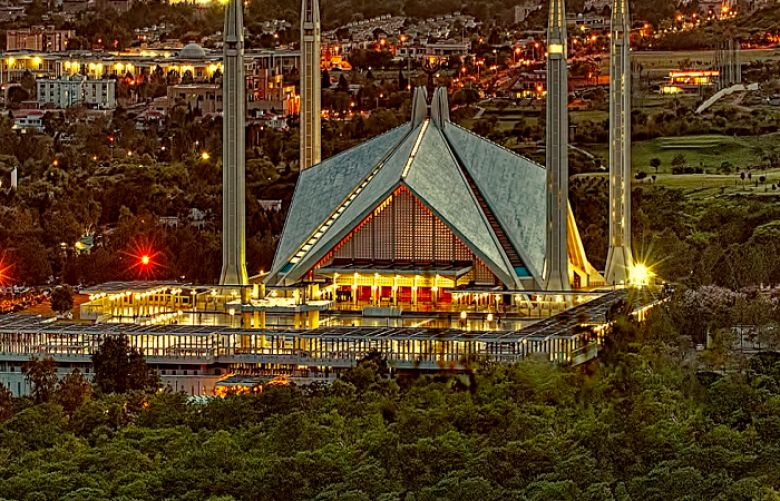 Faisal Mosque is situated in Islamabad, Pakistan