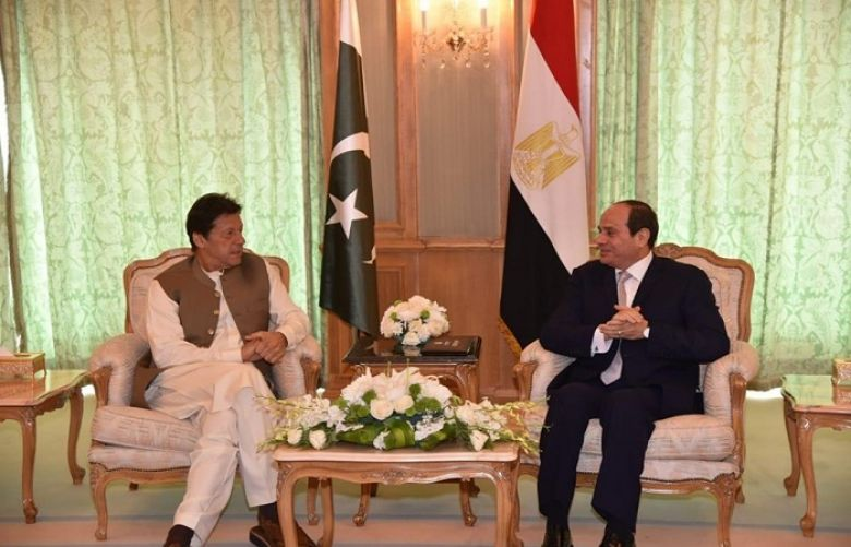 Pm Imran, Egyptian President discuss issues of mutual interest