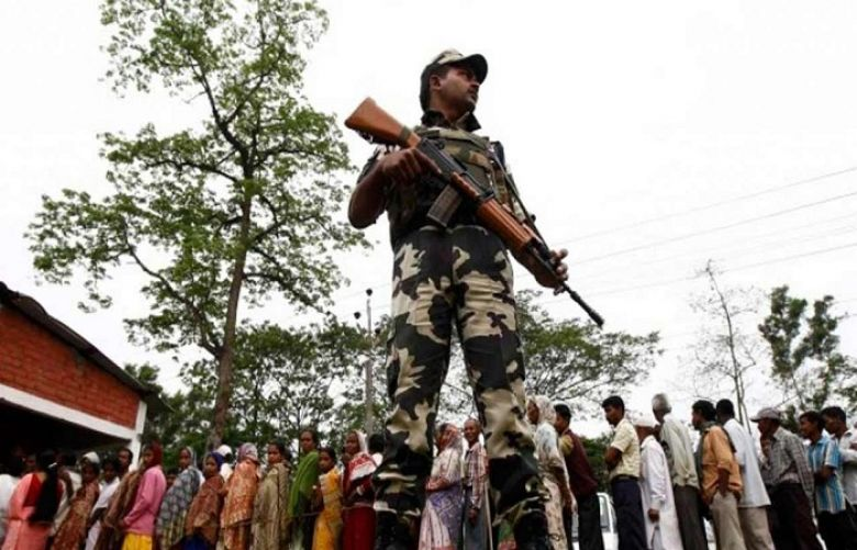 Indians lined up to vote amid unprecedented security in the eastern state of West Bengal