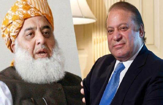 Former prime minister Nawaz Sharif and Pakistan Democratic Movement (PDM) chief Maulana Fazlur Rehman