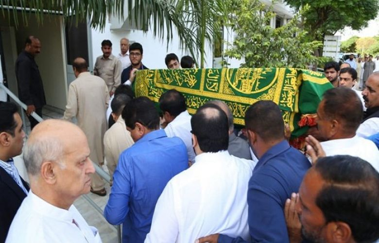 Plane Carrying Kulsoom's Coffin Lands At Lahore Airport