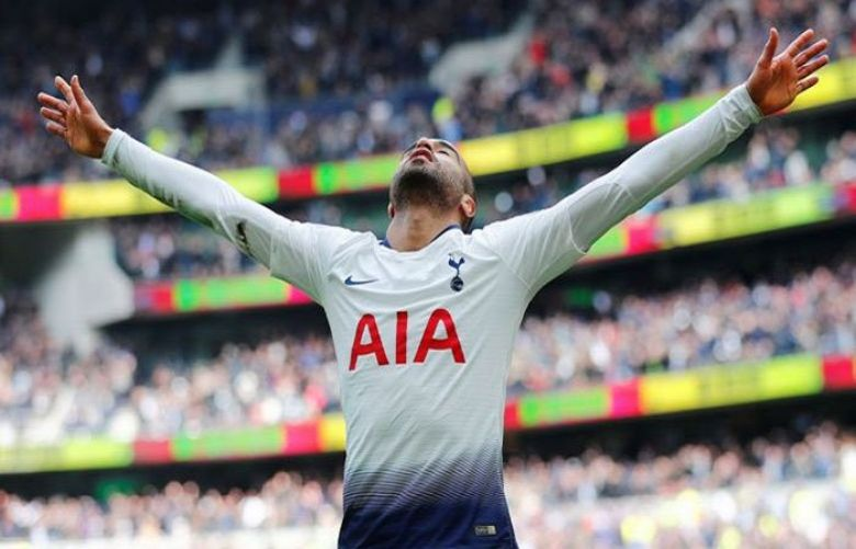 Lucas Moura's first Premer League hat-trick helped Tottenham Hotspur climb above Chelsea into third after a 4-0 victory over bottom side Huddersfield Town on Saturday.