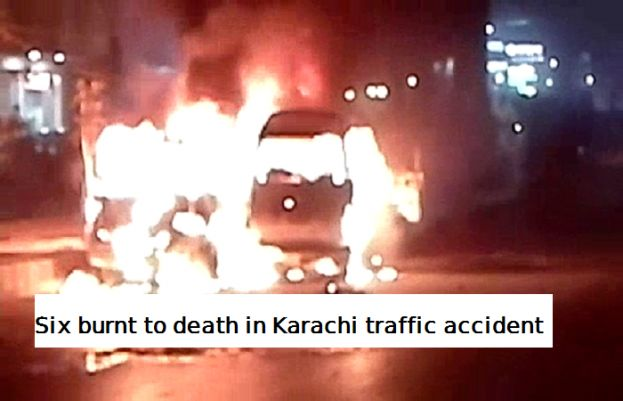 Six people killed in Karachi traffic accident