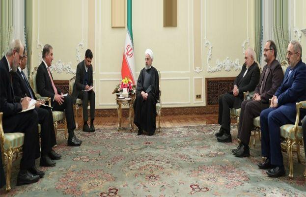 FM Qureshi meet Iranian President Dr. Hassan Rouhani