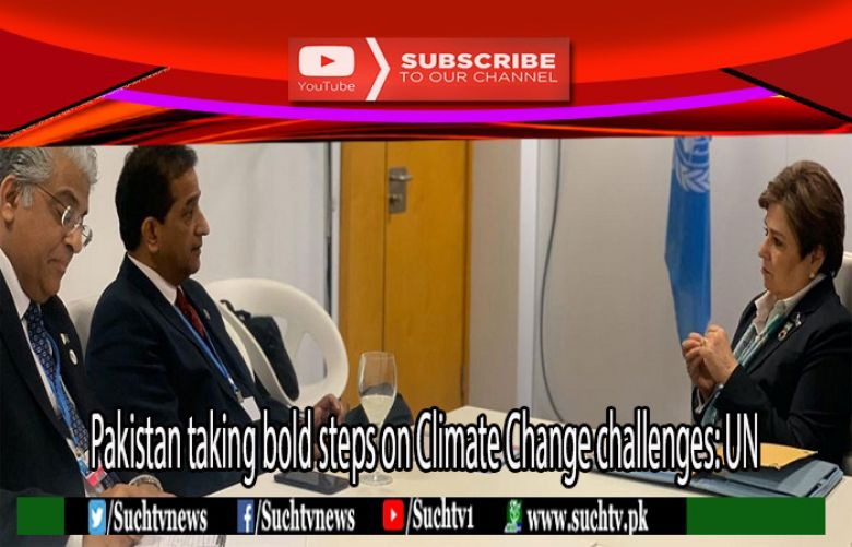 Executive Secretary United Nations  Ms Patricia Espinosa and advisor to Prime Minister on Climate Change Malik Amin Aslam