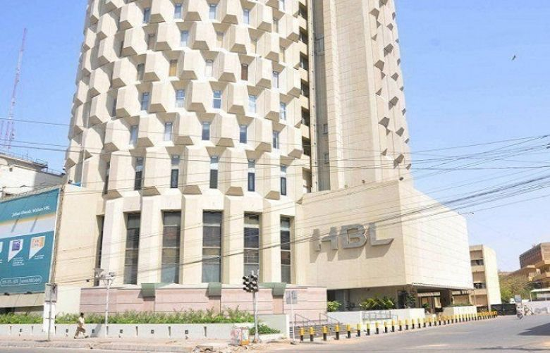 A file photo of HBL head office in Karachi.