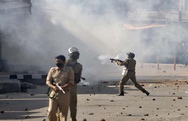 Indian troops martyr two youth, blast house in IOK