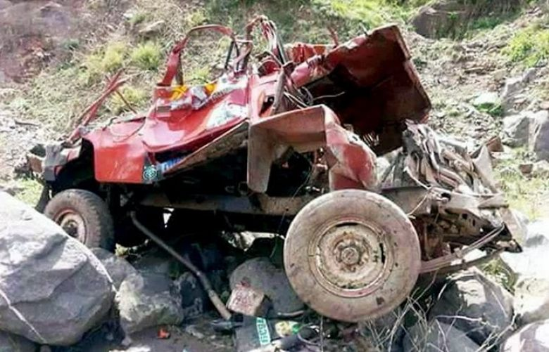 Seven women killed as jeep plunges into ravine in Haveli district of AJK