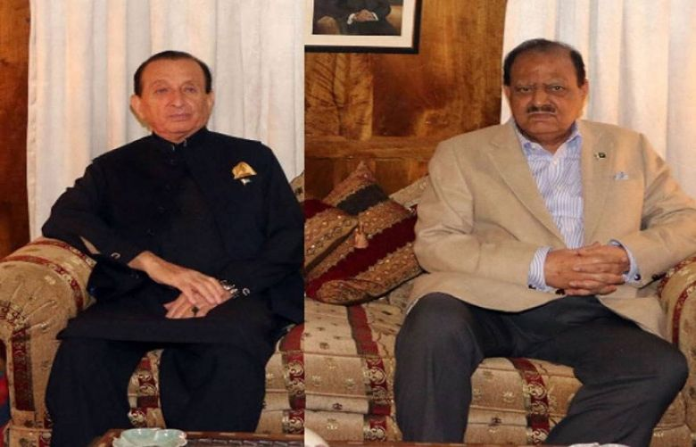 President Mamnoon Hussain and Governor Gilgit-Baltistan Mir Ghazanfar Ali Khan in Hunza