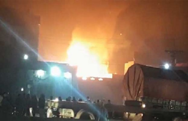 Lahore factory Fire: Eight killed and two inured