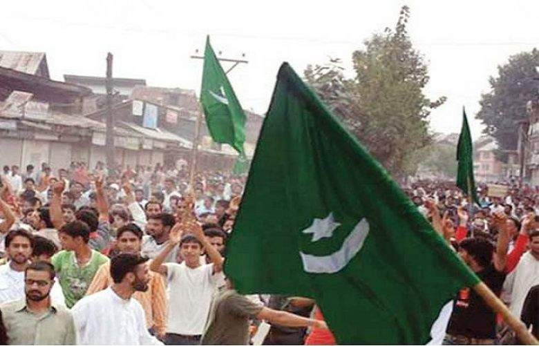 Students unfurled Pakistan's National Flag on college in occupied Kashmir