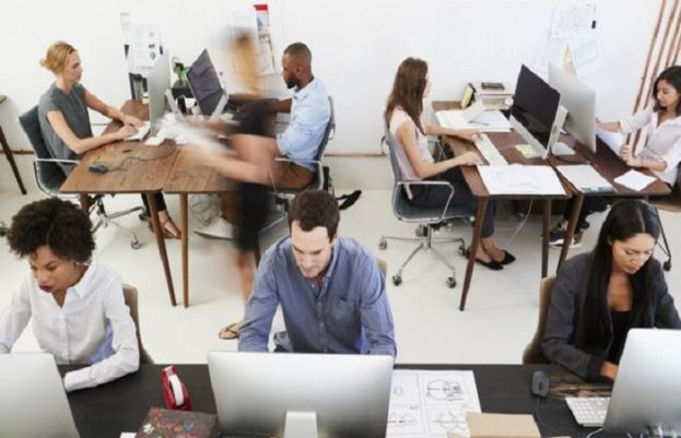 Workers in open-plan offices 'more active'