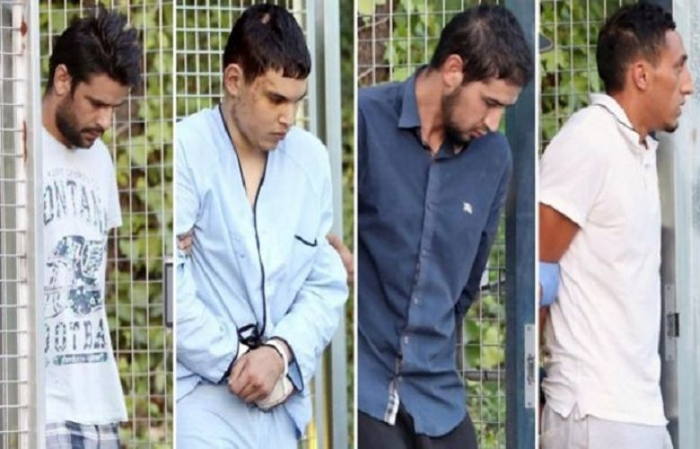 The four suspects in court were (L-R) Mohammed Aalla, Mohamed Houli Chemlal, Sahal al-Karib and Driss Oukabir