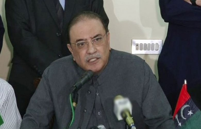 Pakistan Peoples Party (PPP) co-chairman Asif Ali Zardari