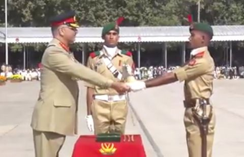 CJCSC at passing out parade of cadets at PMA Kakul Academy
