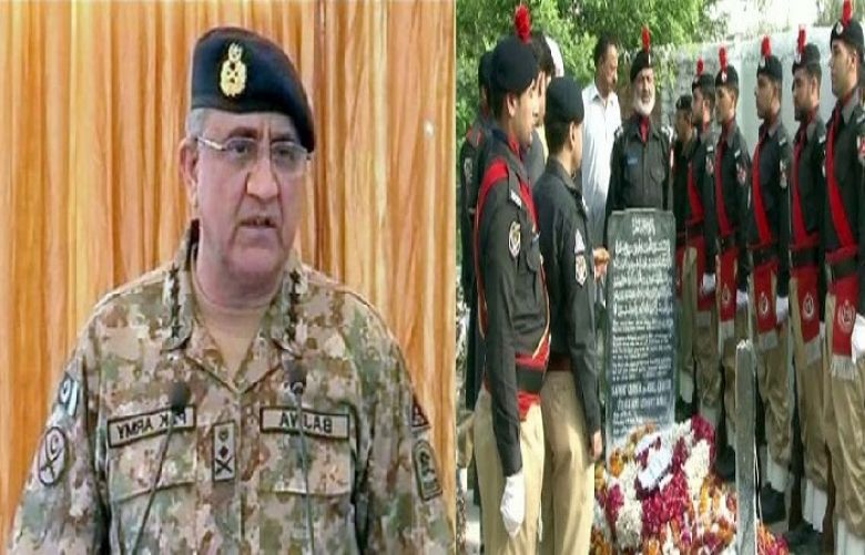 Chief of Army Staff General Qamar Javed Bajwa paid tribute to the martyrs of Pakistan Police
