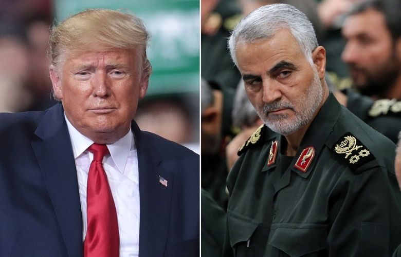 US President Donald Trump and  US assassinated General Qassem Soleimani