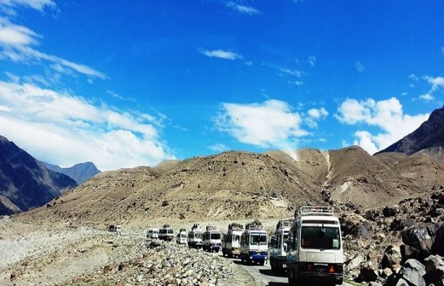 After 3 days of efforts, KKH opened for all kinds of traffic